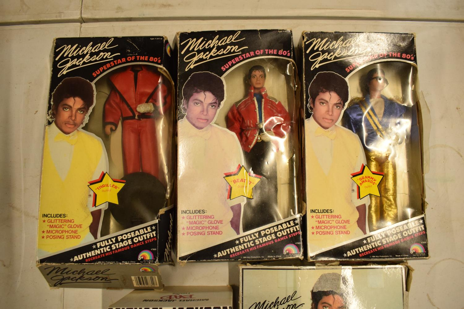 A collection Michael Jackson figures and toys to include 'BAD' figure, electronic microphone and - Image 2 of 9