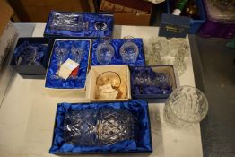 A mixed collection of glass and crystal to include: Caithness, Royal Doulton, Tutbury etc