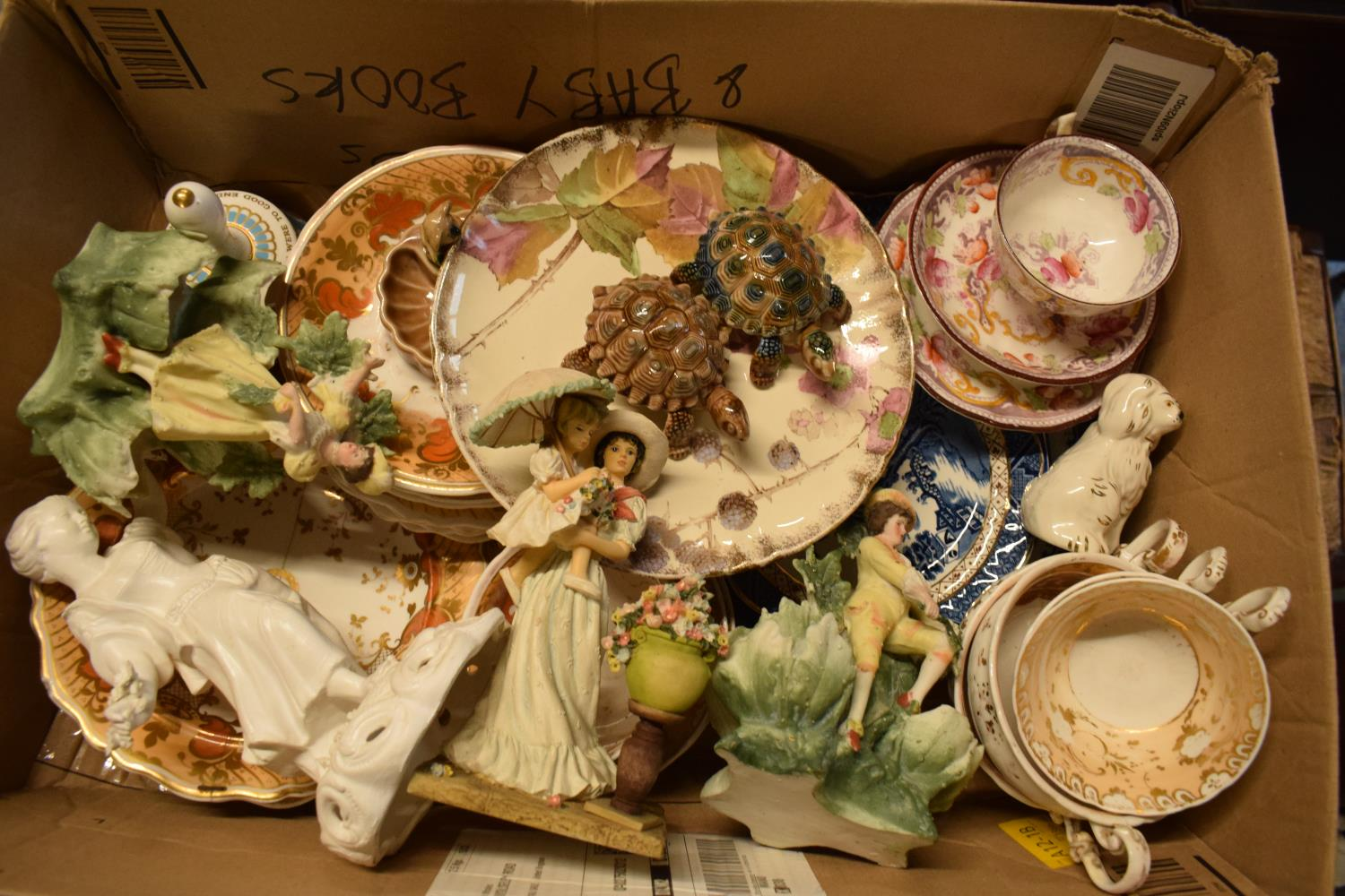 A mixed collection of items to include Wade, Hammersley, 19th century tea ware etc. Condition is