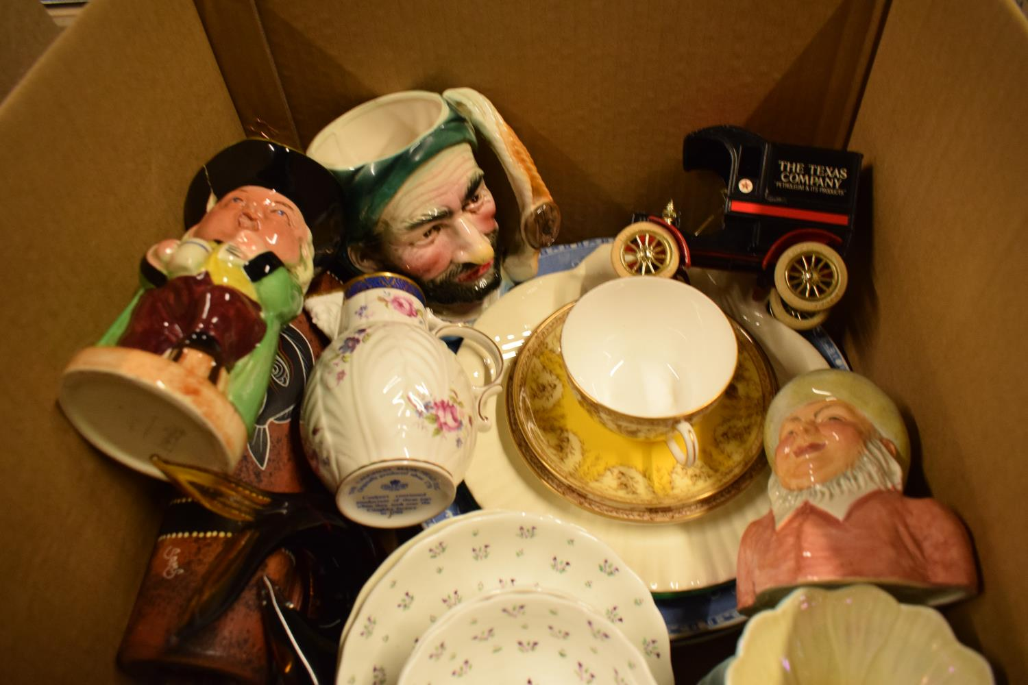 A mixed collection of items to include Royal Doulton character jug, Royal Crown Derby etc - Image 2 of 3