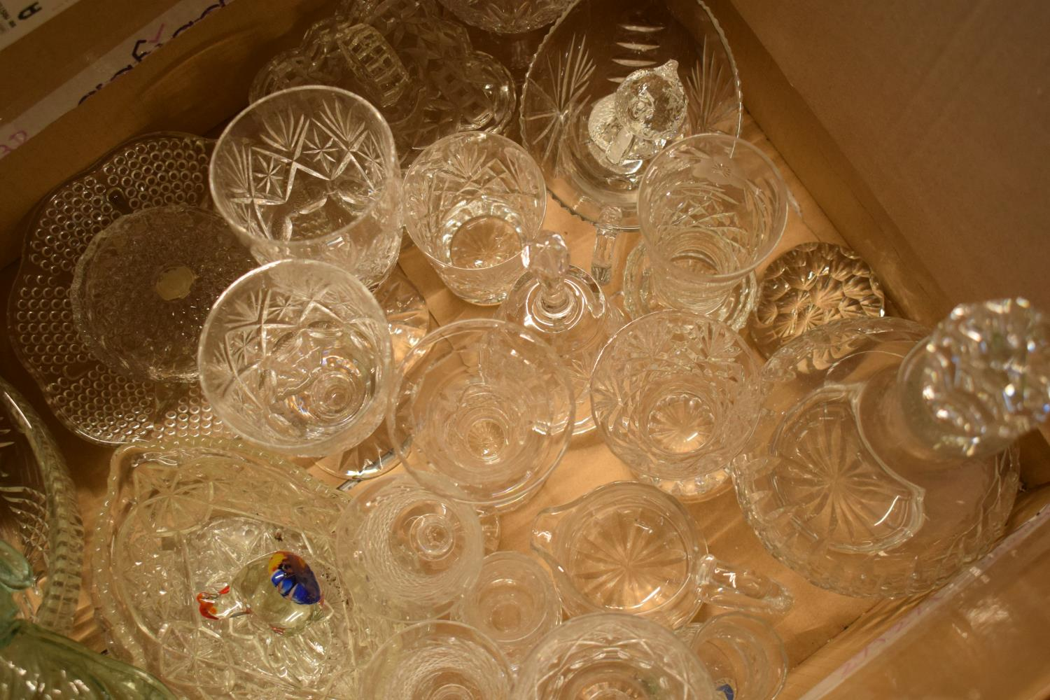 A mixed collection of glass and crystal to include glasses, decanters, tumblers etc .Condition is - Image 3 of 3