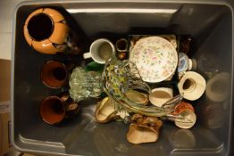 A mixed collection of items to include Murano style fish, Minton Haddon Hall Bowl, Hornsea etc.