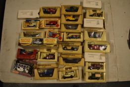 A collection of boxed toy cars to include Halls, Lledo, Days Gone etc (approx 25) Boxes are a bit