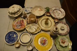 A mixed collection of items to include Caithess, Spode, Sadler, Worcester etc Condition is mixed. No