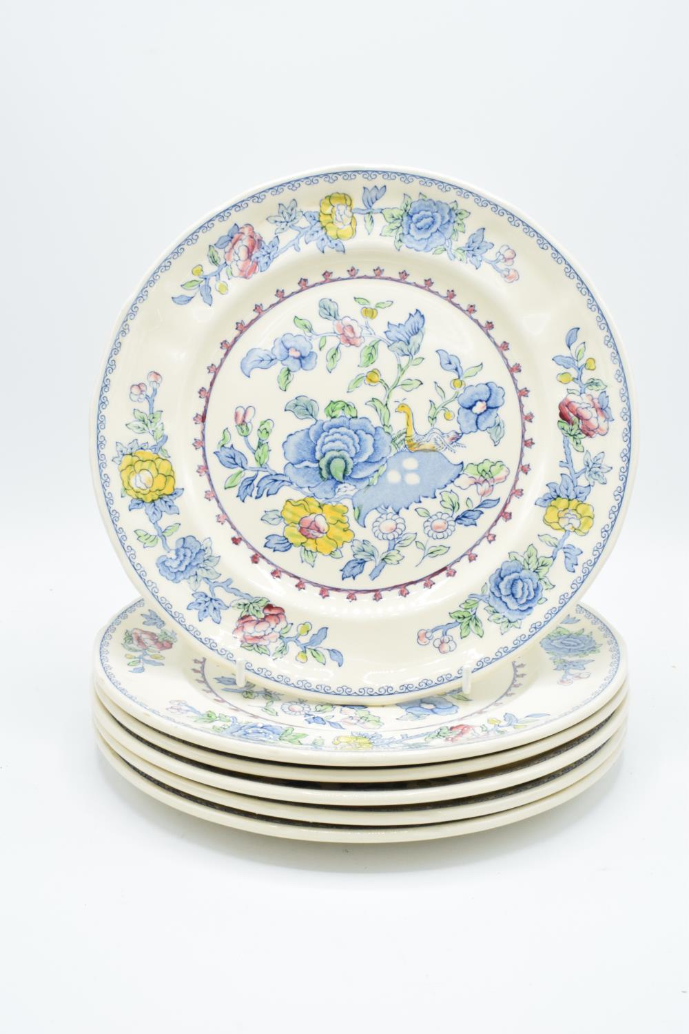Masons Regency 10'' dinner plates (6) Generally in good condition, one has bad staining