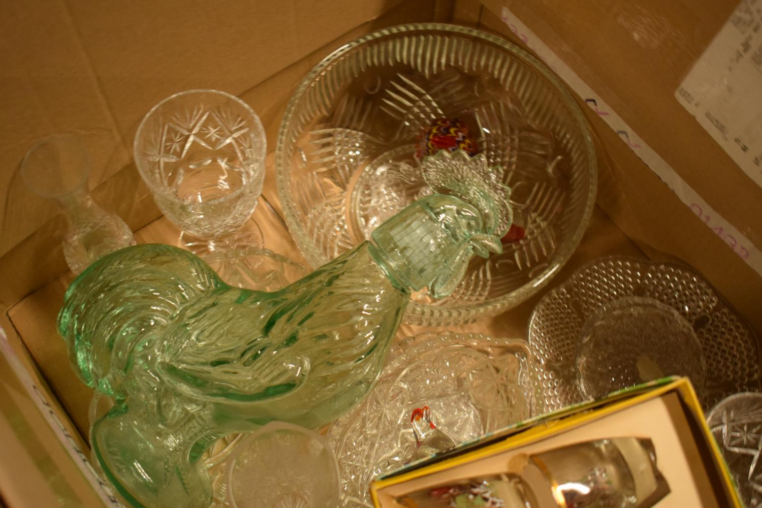 A mixed collection of glass and crystal to include glasses, decanters, tumblers etc .Condition is - Image 2 of 3