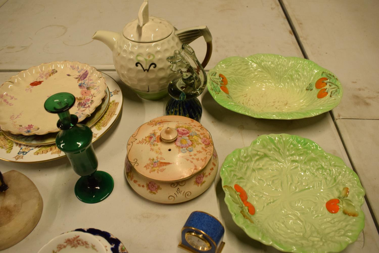 A mixed collection of items to include novelty golf teapot, Aynsley, Carlton Ware etc Condition is - Image 2 of 5