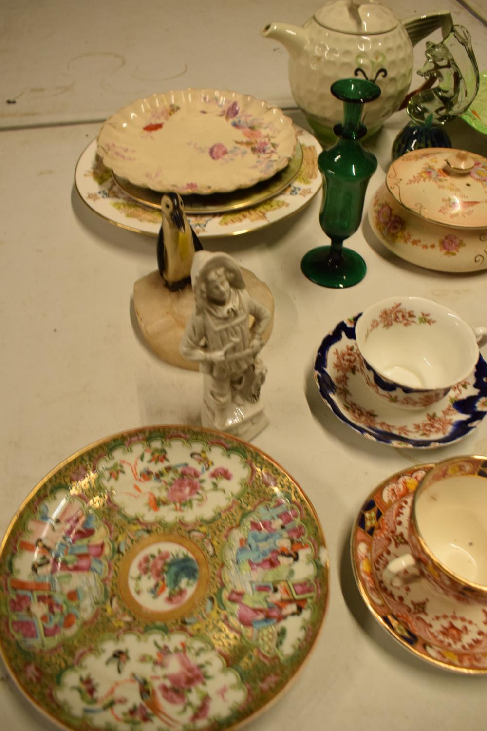 A mixed collection of items to include novelty golf teapot, Aynsley, Carlton Ware etc Condition is - Image 4 of 5
