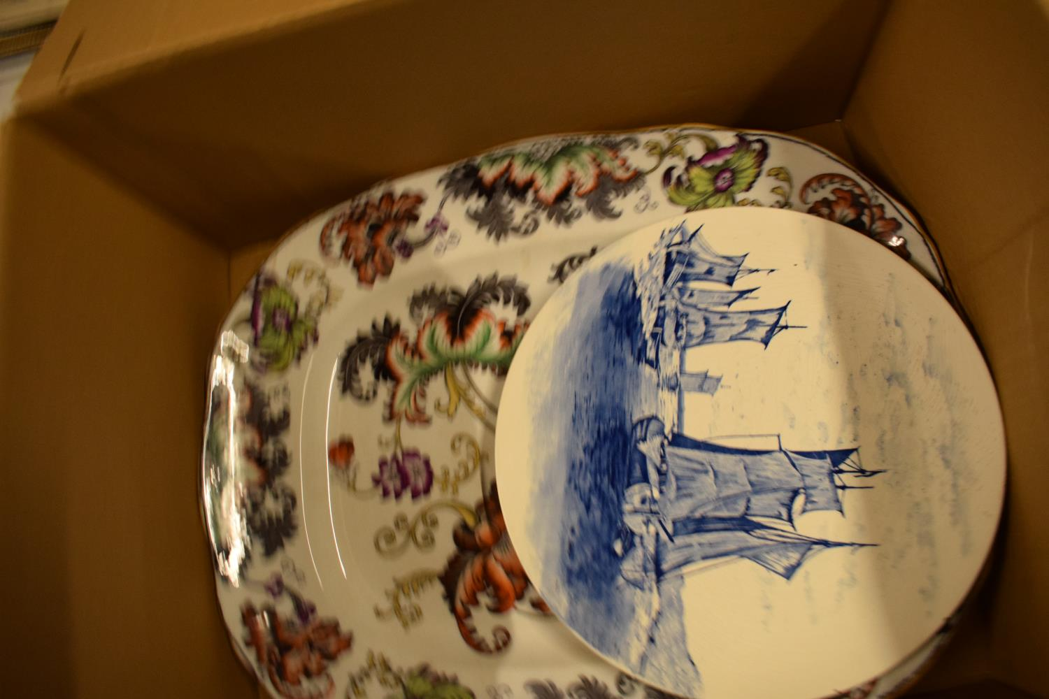 A mixed collection of items to include a parasol, Carlton Ware, Aynsley etc Condition is mixed. No - Image 2 of 4