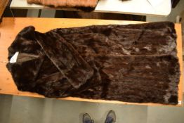 Vintage Canadian ranch mink coat, size 12-16. in good condition