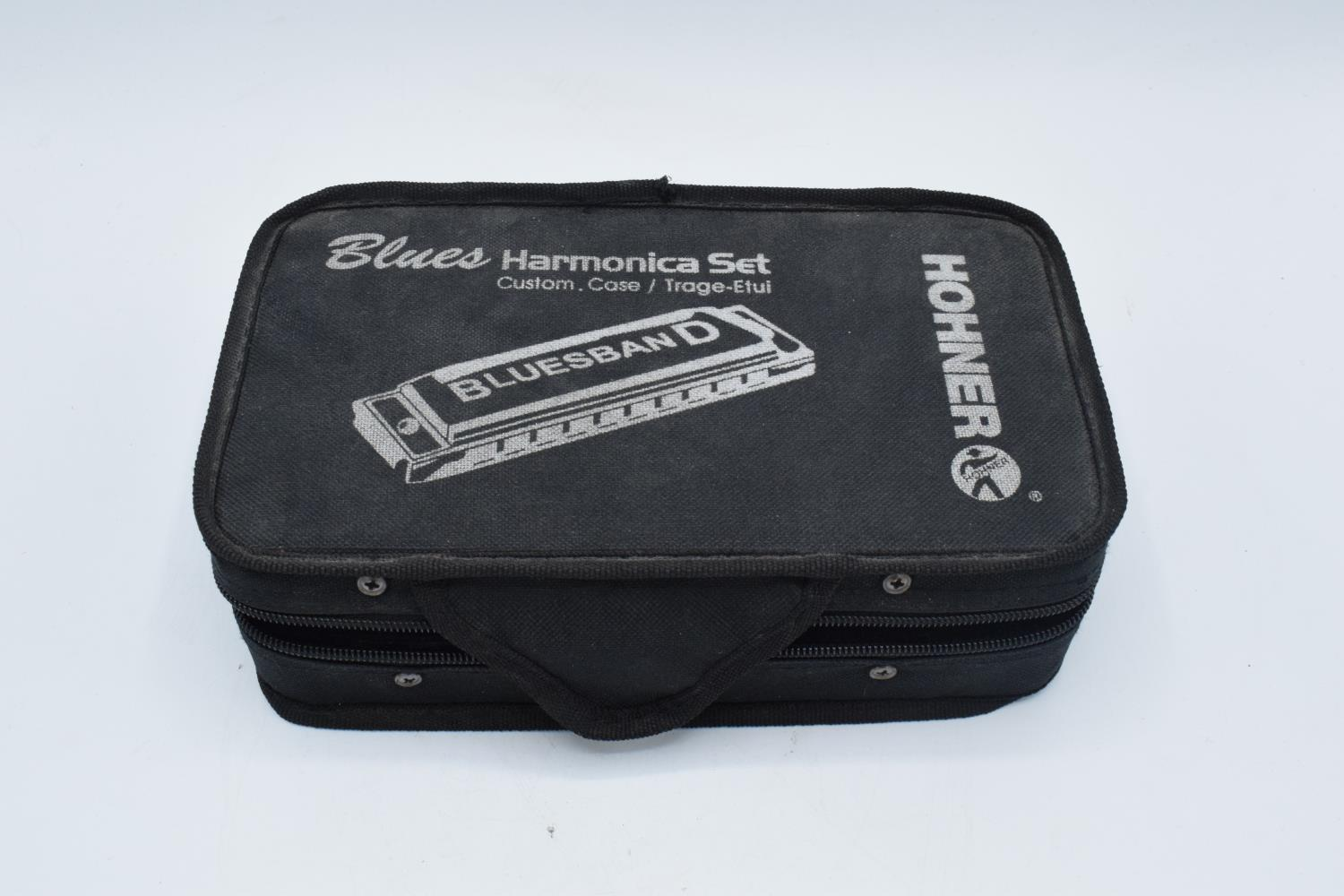 Hohner blues harmonica set together with a boxed Rotary ladies watch and bracelet set(2). In good - Image 3 of 4