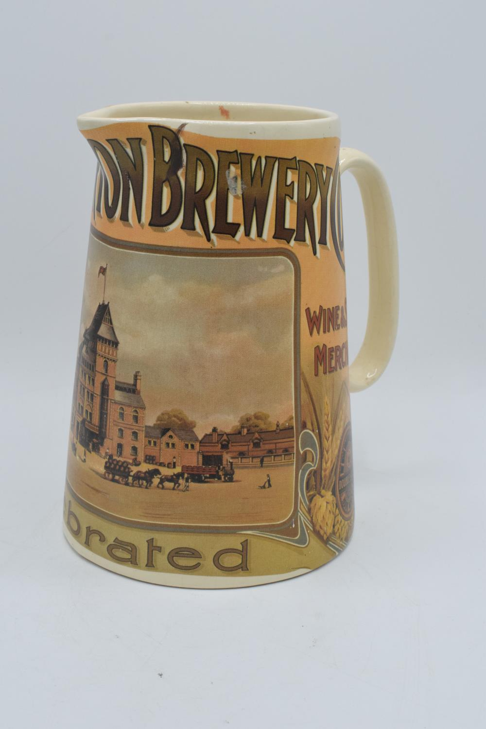 'The Hook Norton Brewery Co' late 20th century transfer print pub jug. In good condition with no