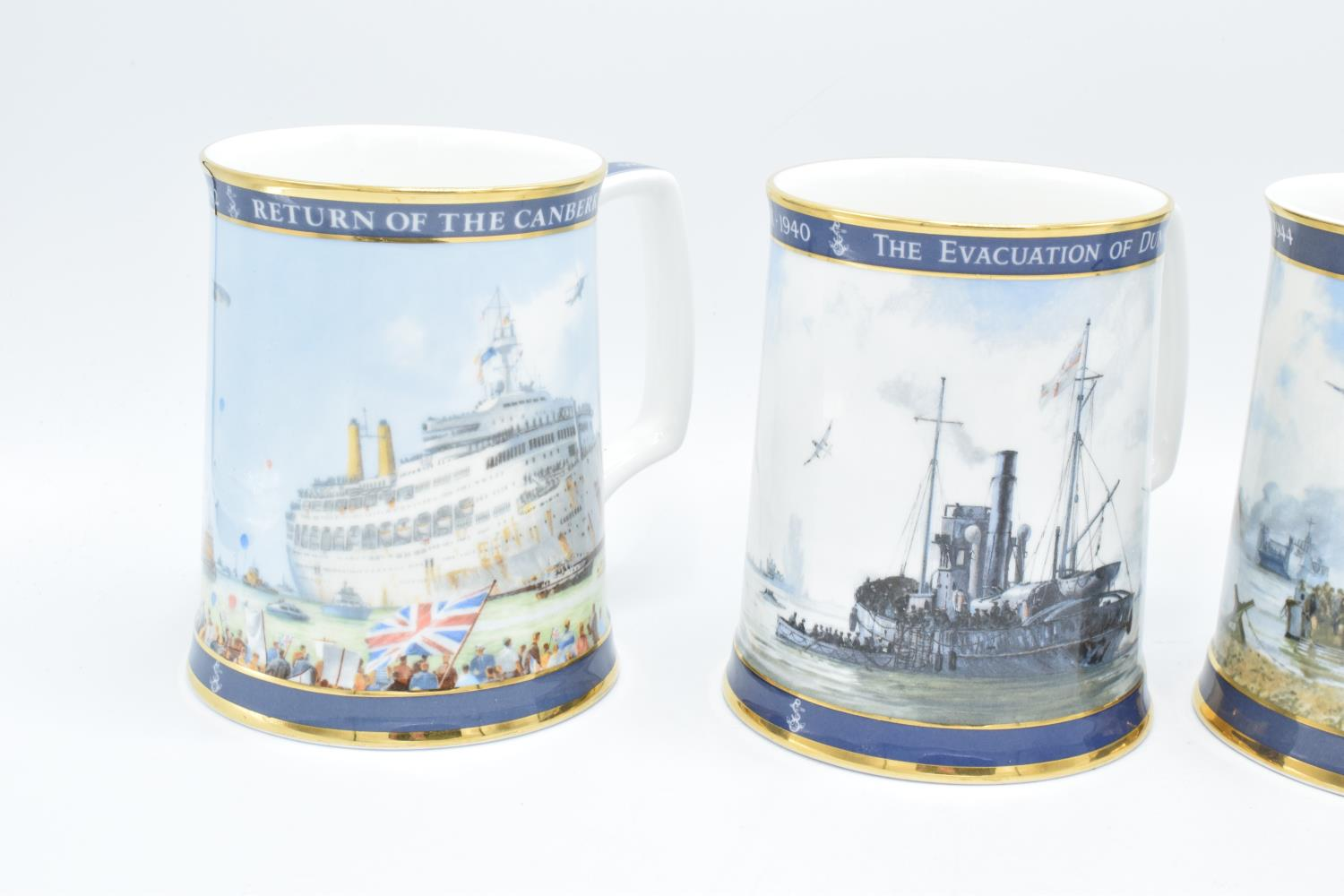 A collection of Royal Doulton tankards to commemorate Gulf War, D-day Landings, Dunkirk and the - Image 2 of 3