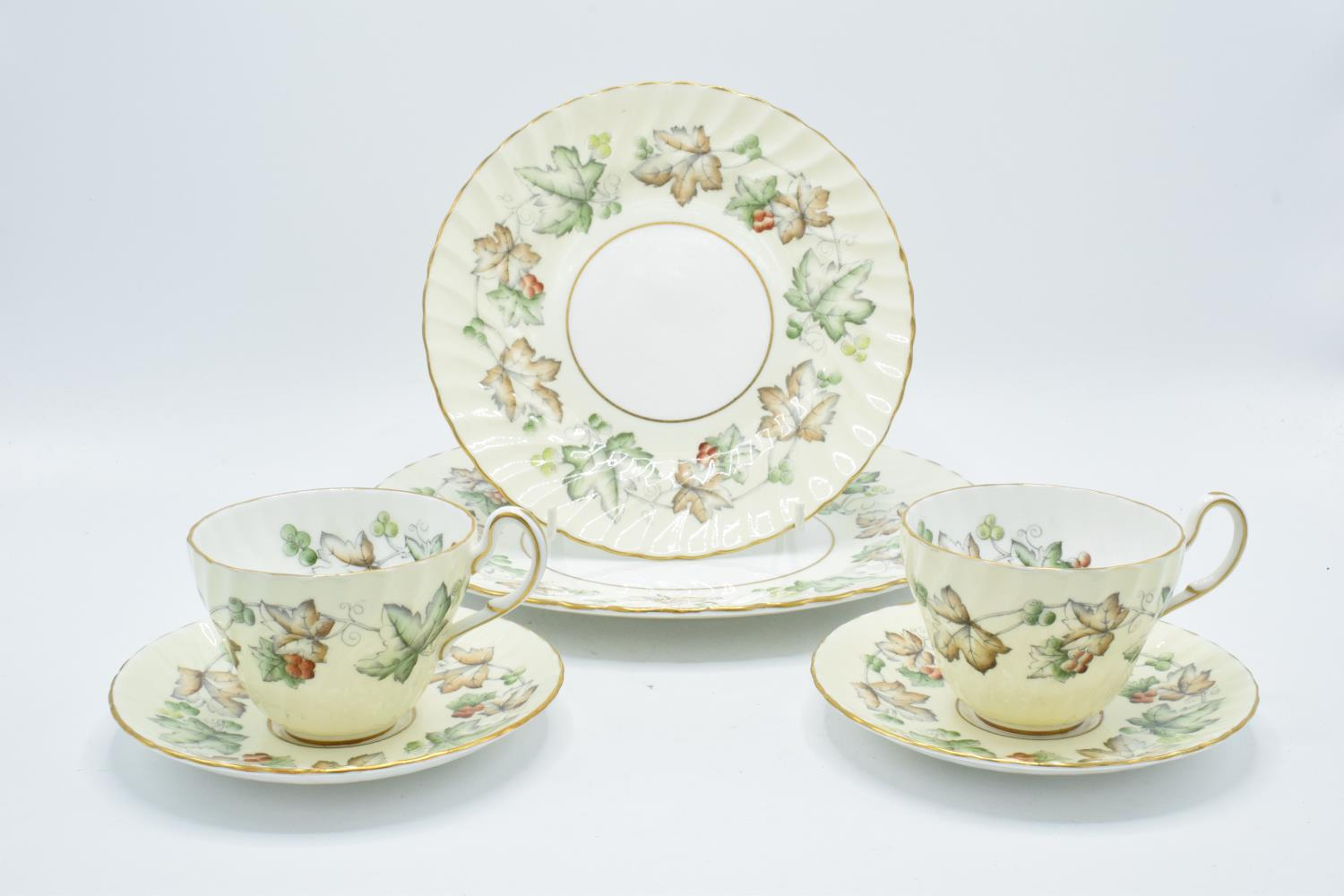 A collection of Foley Avondale tea ware to include 4 duos, 1 spare saucer, 6 8'' side plates and 3