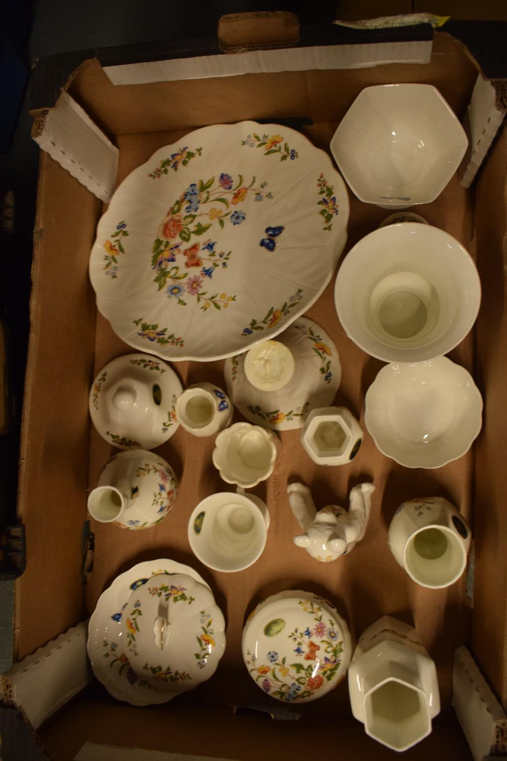 A collection of Aynsley Cottage Garden items to include a cake stand, trinkets, vases etc. Generally - Image 2 of 2