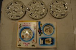 A collection of Ridgway Homemaker 10'' dinner plates (3) together with a Johnsons Brothers Alice