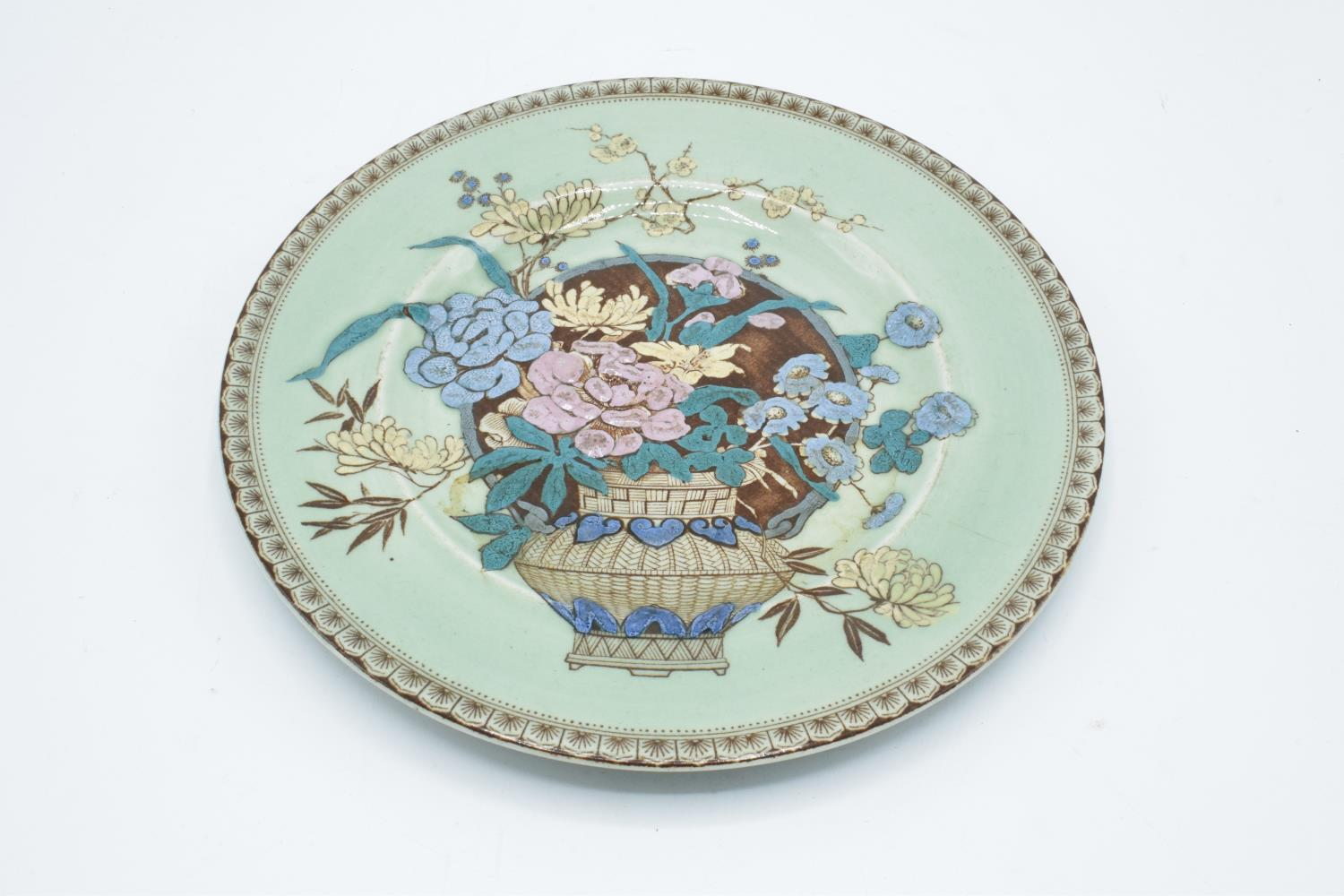 Clarice Cliff (Newport) embossed plate with a floral pattern. In good condition with no obvious