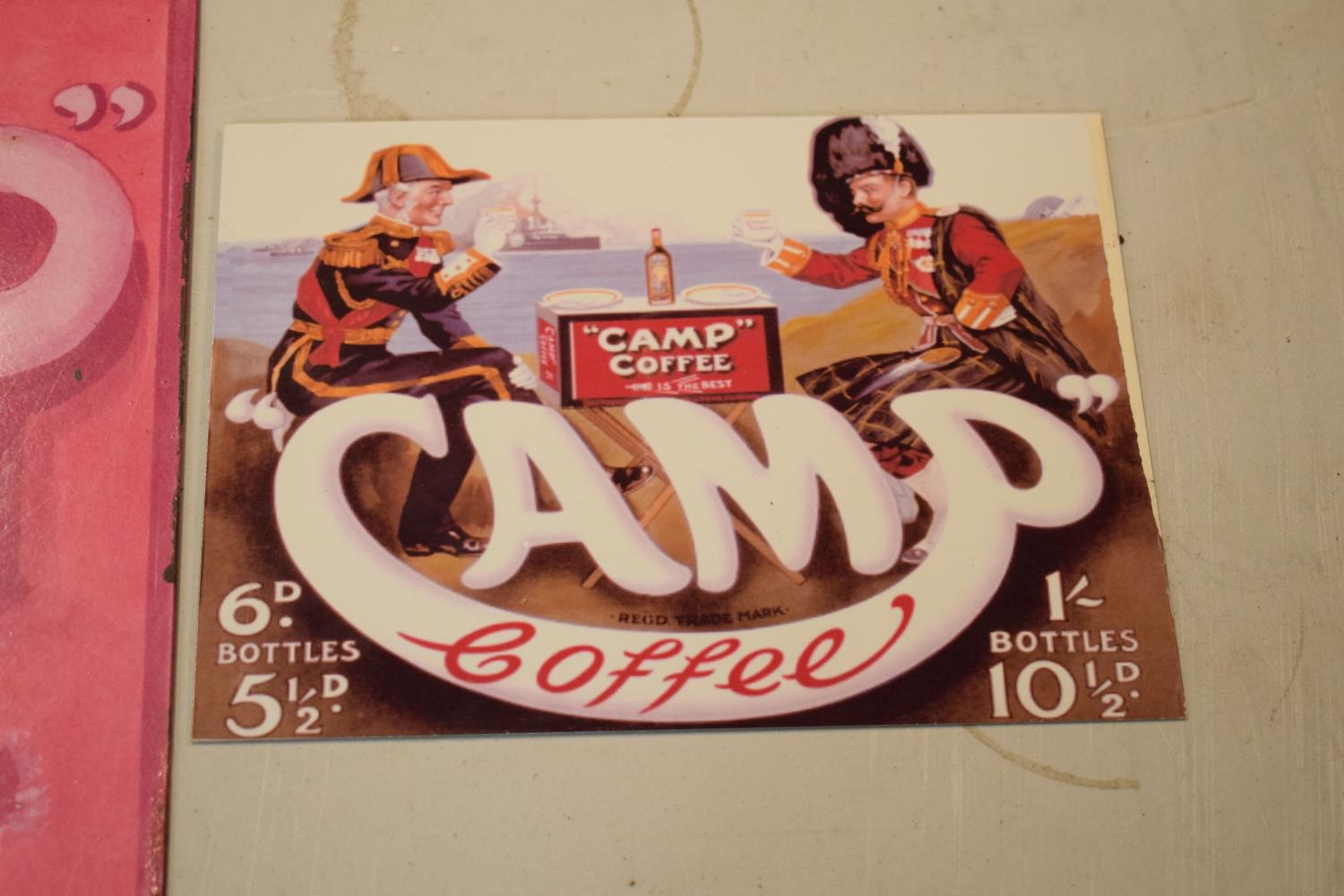 A collection of metal advertising signs including Bovril and 2 Camp (3) Rust and wear to the pink - Image 4 of 5