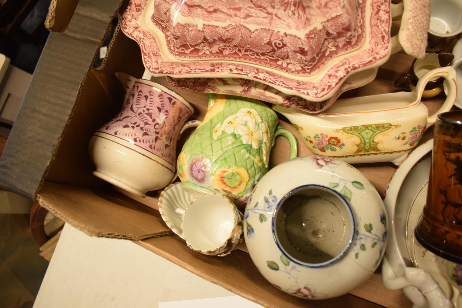A collection of mainly 19th century pottery to include Masons Tureen af, Royal Winton etc. Condition - Image 2 of 2
