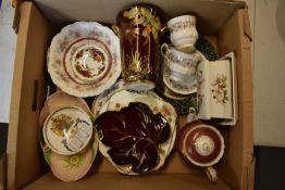 A mixed collection of items to include a Royal Albert Old Country Roses pin dish, Royal Albert