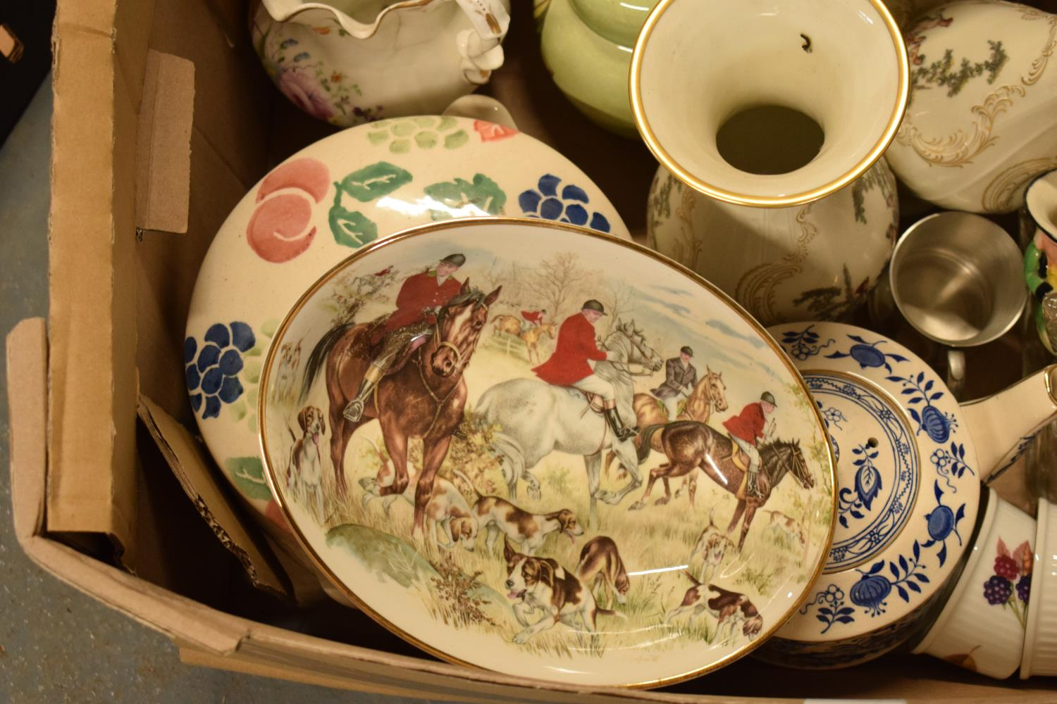 A mixed collection of items to include Royal Worcester, Carlton Ware, a glass dressing table set - Image 2 of 4