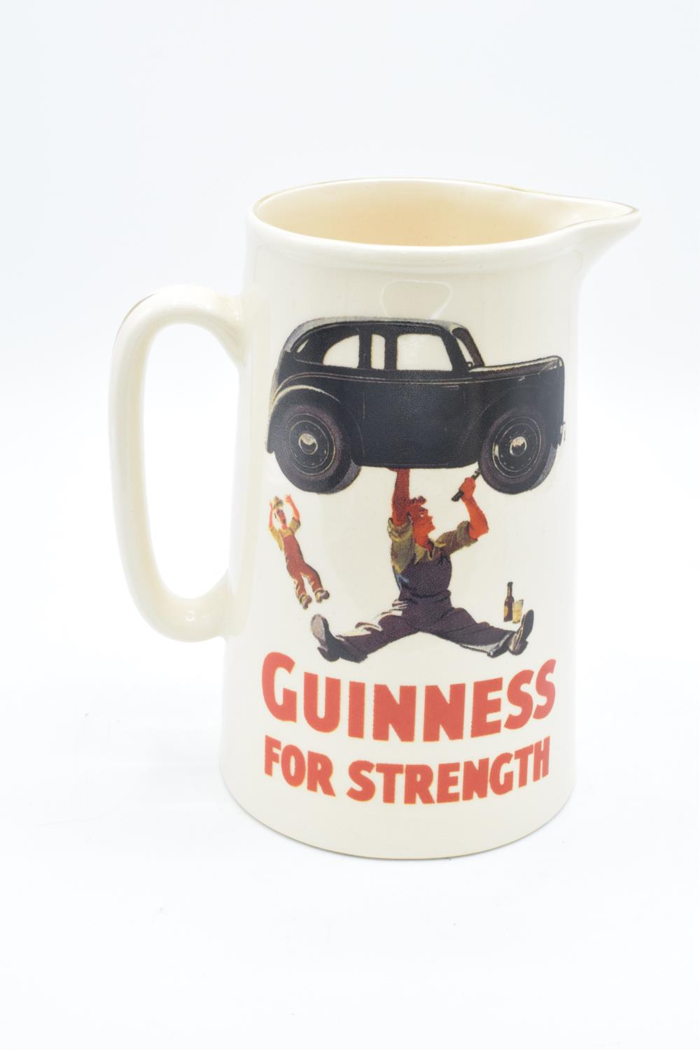 Guinness pub advertising jug 'Guinness for Strength'. In good condition with no obvious damage or - Image 2 of 3
