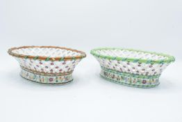 Ed Honore á Paris pierced oval dessert baskets (a/f) Both are lacking their handles. One has