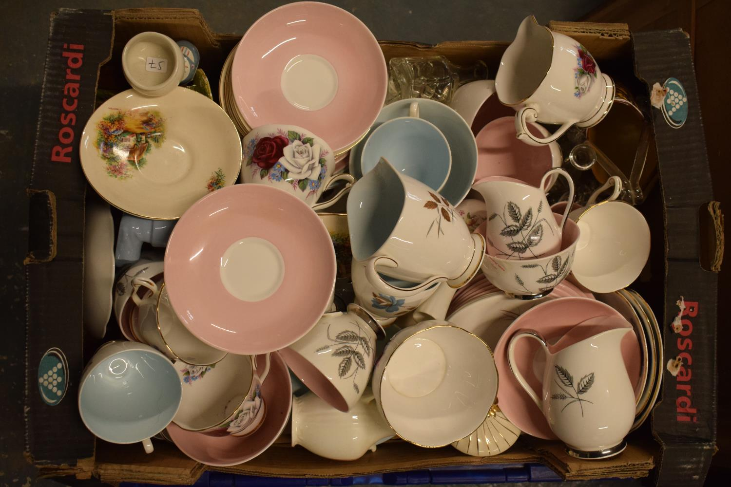 A mixed collection of items to include tea ware, figures, glassware etc. Condition is mixed. No