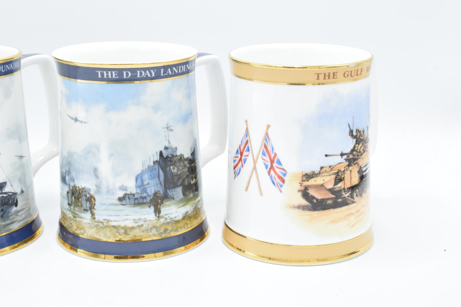 A collection of Royal Doulton tankards to commemorate Gulf War, D-day Landings, Dunkirk and the - Image 3 of 3