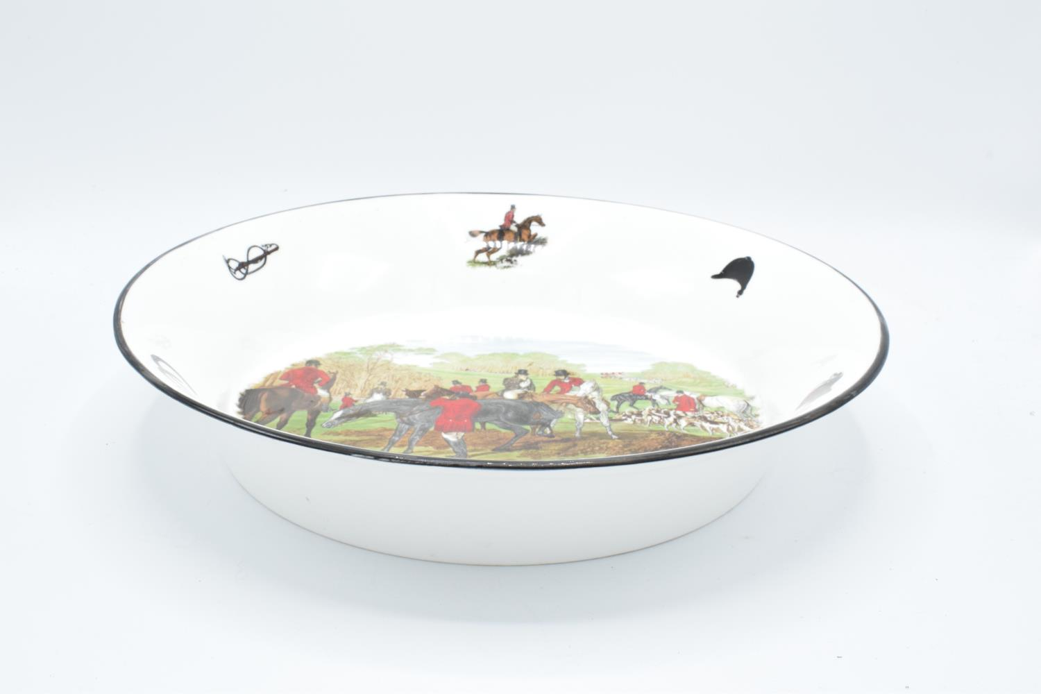 Large shallow bowl depicting a hunting scene of J.F Herring and Son, made by China Originals of - Image 2 of 4