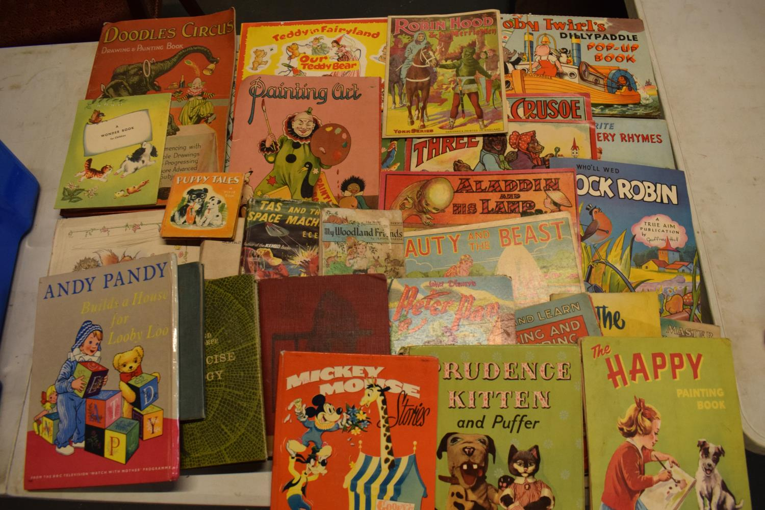 A collection of 20th century children's books to include Toby Twirls Pop Up Book, York series,