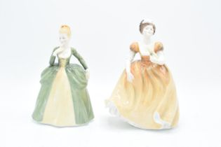 Francesca Art China lady figures to include Marjorie and Eugenie (2). In good condition with no