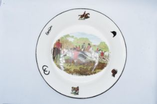 Large shallow bowl depicting a hunting scene of J.F Herring and Son, made by China Originals of