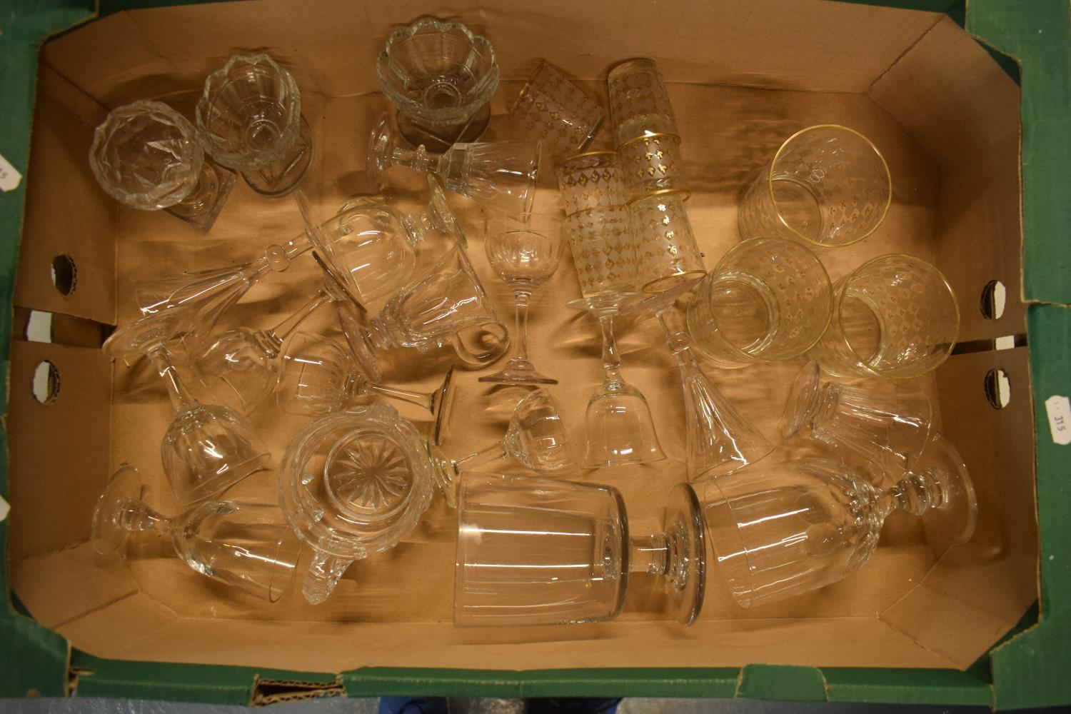 A collection of 19th and 20th century glassware to include tumblers, glasses, monteiths etc . No
