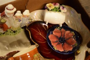A mixed collection of items to include a Moorcroft pin tray af, Price Kensington Cottage ware,