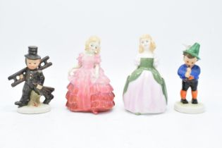 A collection of figures to include Royal Doulton Rose HN1368, Penny HN2338 (2nd) and Goebel/