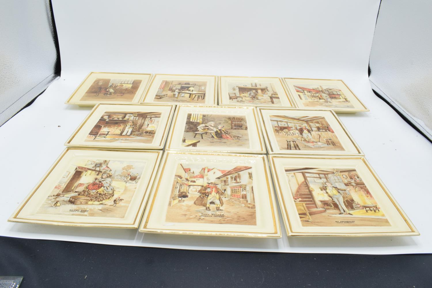 Newhall Pottery of Hanley Dickens wall plaques. In good condition, age related crazing throughout, 1 - Image 2 of 4