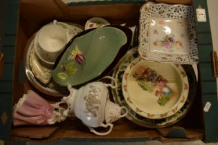 A mixed collection of items to include Minton dinner plates, Royal Doulton, Carlton Ware etc. Please