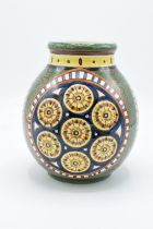 Villeroy and Boch Mettlach Faenza vase with abstract design. In good condition with age related