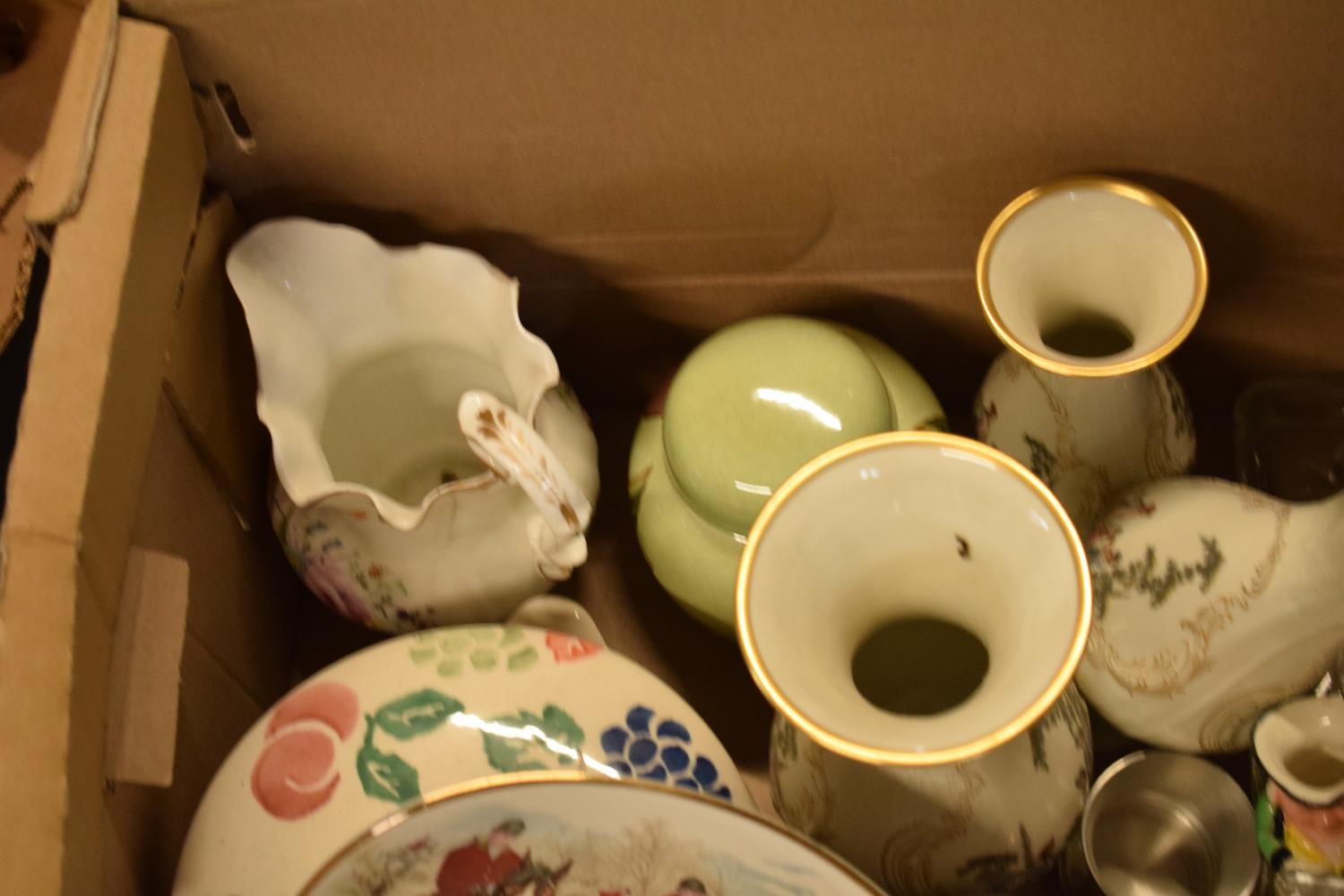 A mixed collection of items to include Royal Worcester, Carlton Ware, a glass dressing table set - Image 3 of 4