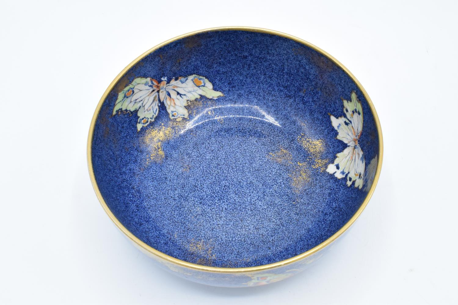 Rialto Ware pottery bowl with butterflies decoration. In good condition with no obvious damage or - Image 4 of 6