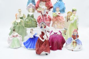 A collection of lady figures to include Royal Doulton, Coalport and other makes too however most