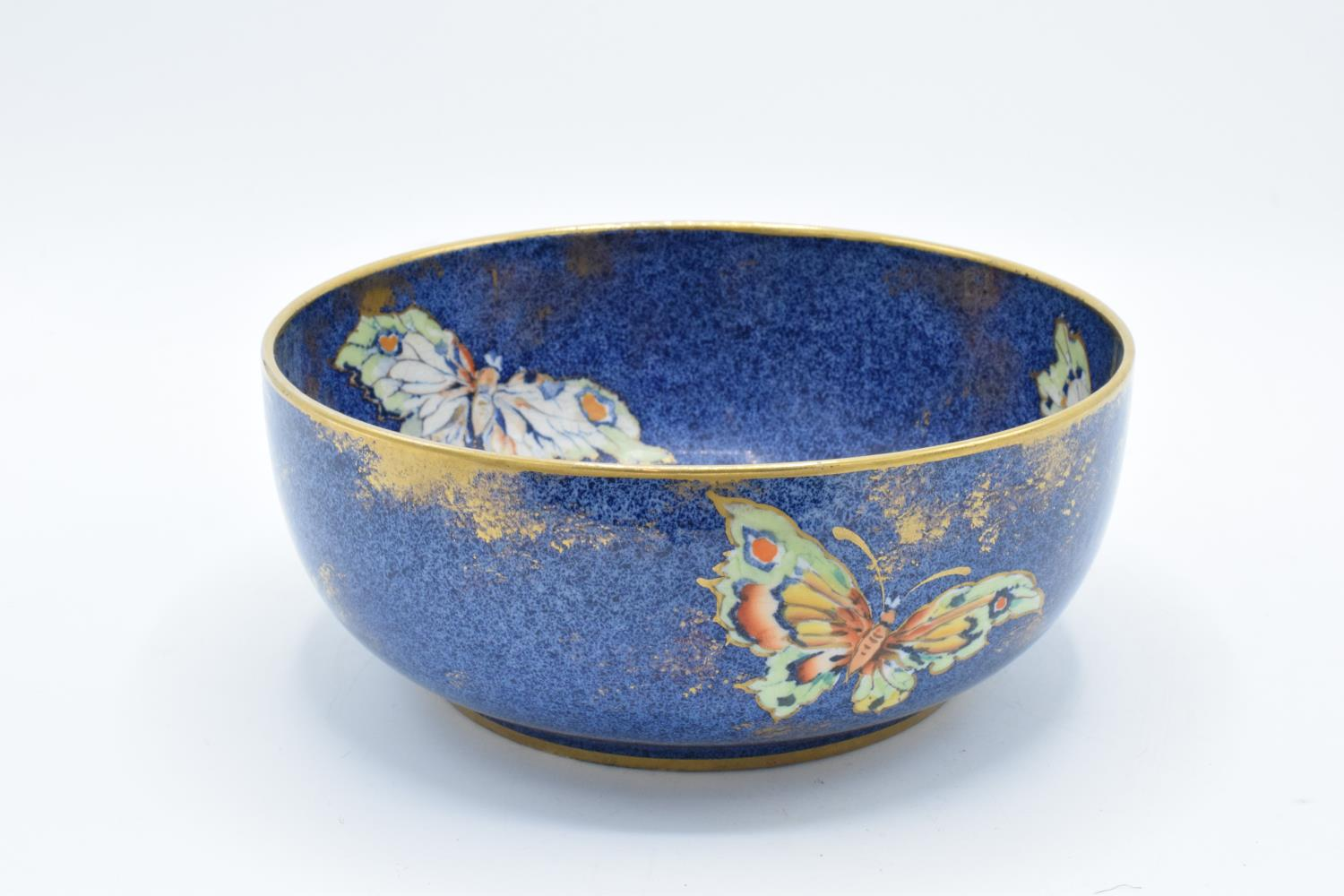 Rialto Ware pottery bowl with butterflies decoration. In good condition with no obvious damage or - Image 3 of 6