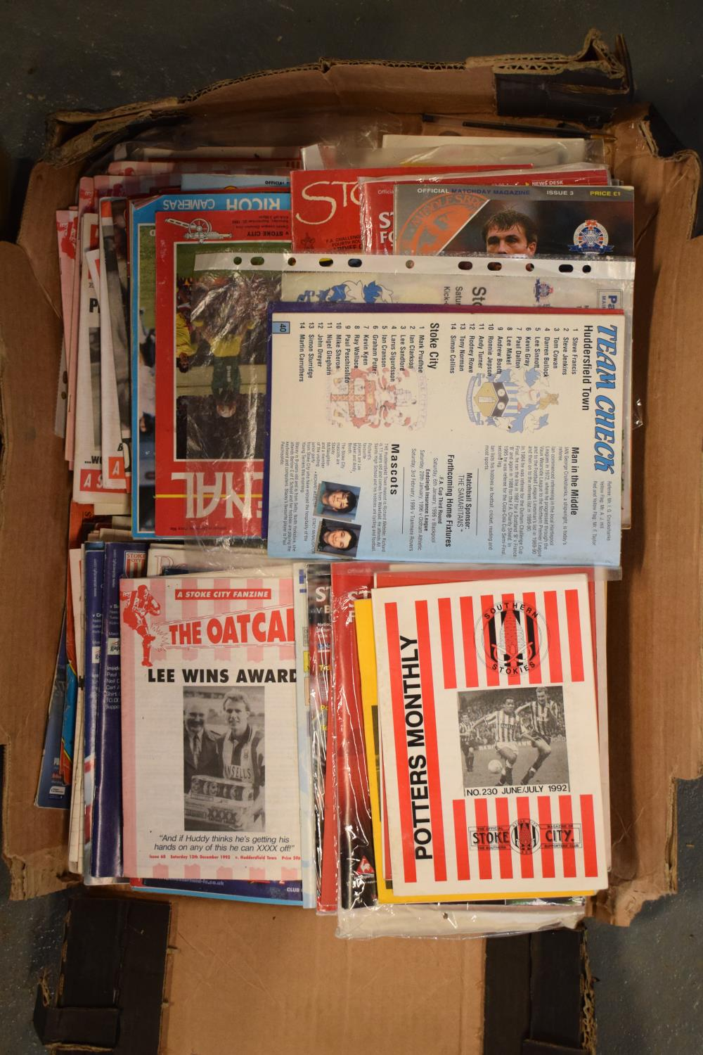 A collection of mainly Stoke City football programmes and Oatcakes mainly from the 1990s onwards (