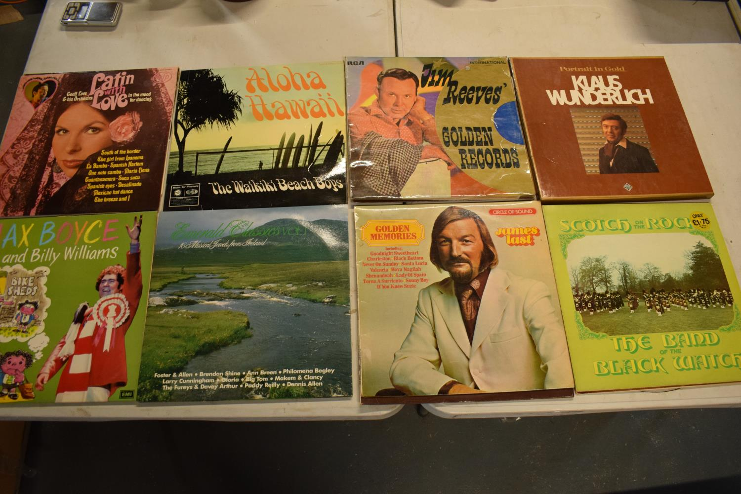 A collection to mainly 12'' LPs and vinyls to include artists such as ABBA, the Beach Boys,