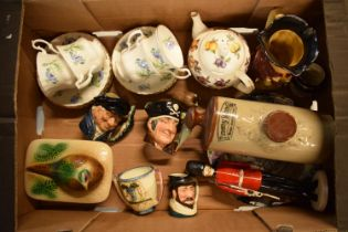 A mixed collection of items to include a Coalport figure of a Grenadier Guard af, Doulton