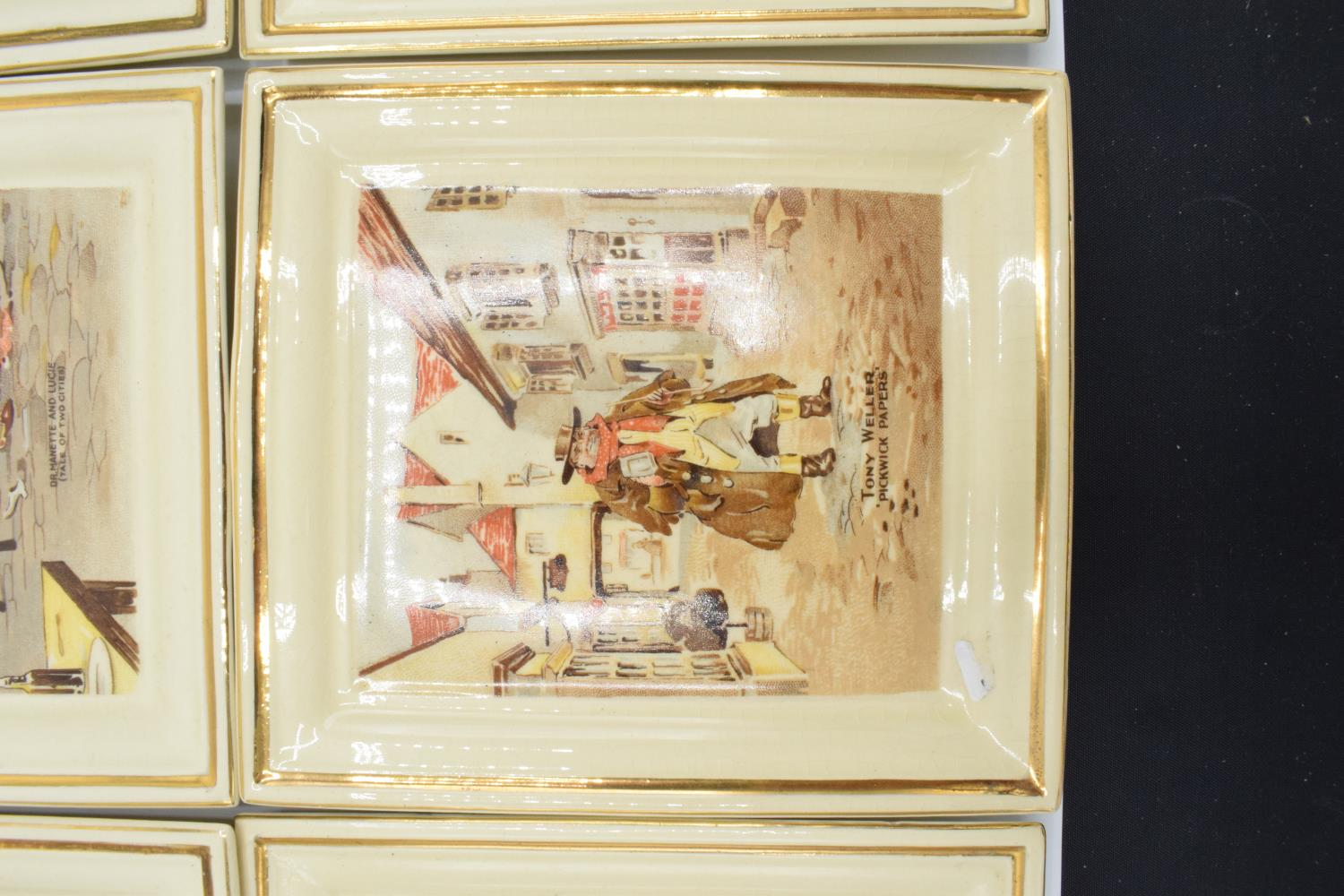 Newhall Pottery of Hanley Dickens wall plaques. In good condition, age related crazing throughout, 1 - Image 3 of 4