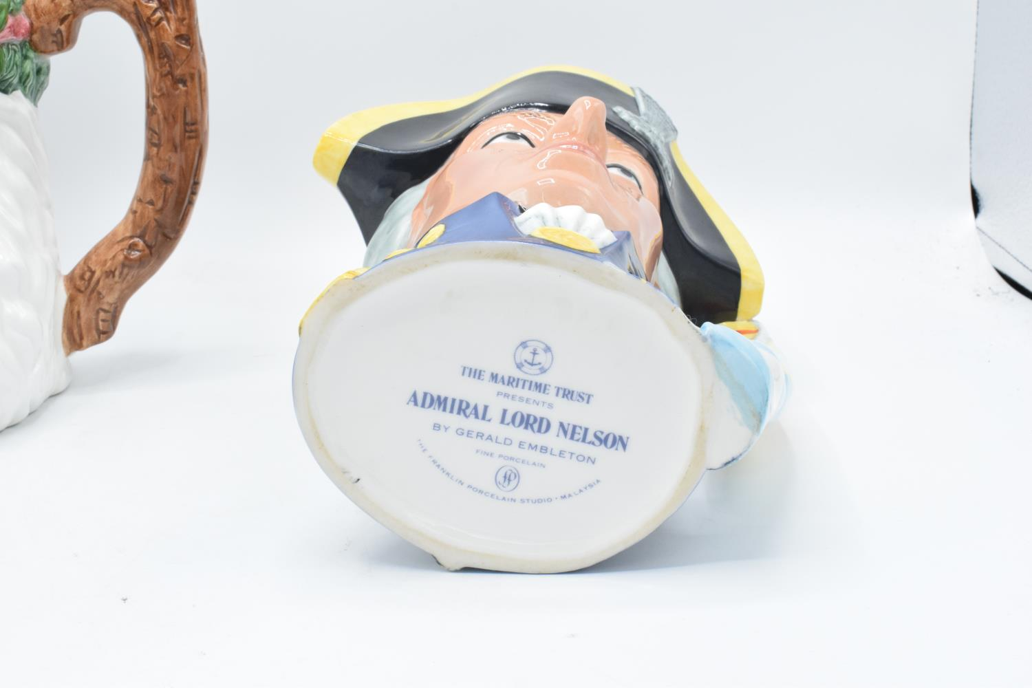 The Maritime Trust character jug of Admiral Lord Nelson with certificate together with a WCL - Image 4 of 6