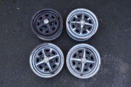 MG car model B set of 4 Rostyle wheel rims