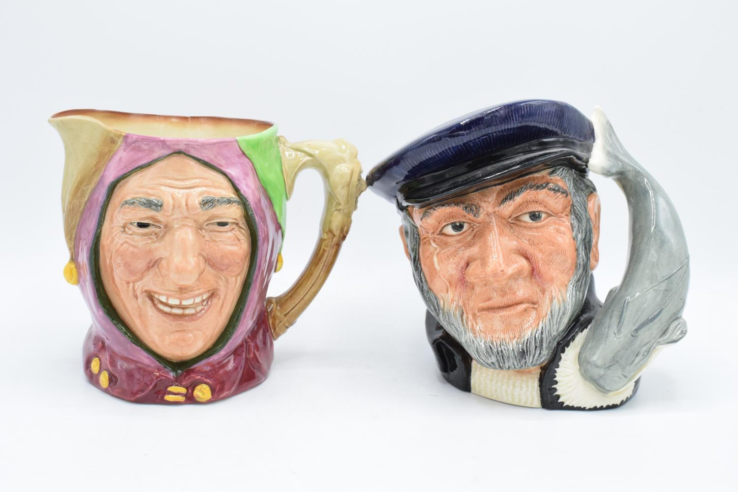 Large Royal Doulton character jugs Touchstone and Capt Ahab D6500 (2). In good condition with no